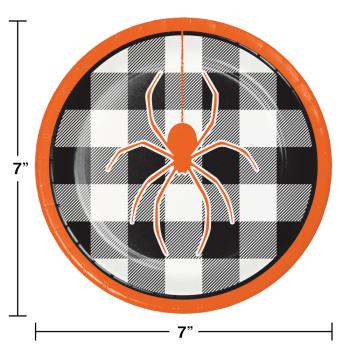 "Image de TABLEWARE - PLAID SPIDER 7"" PLATES"