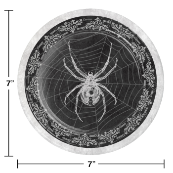 """Image de TABLEWARE - SPIDER AND SKULL 7"""" PLATES"""