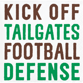 Picture of FOOTBALL - KICK OFF BEVERAGE NAPKINS