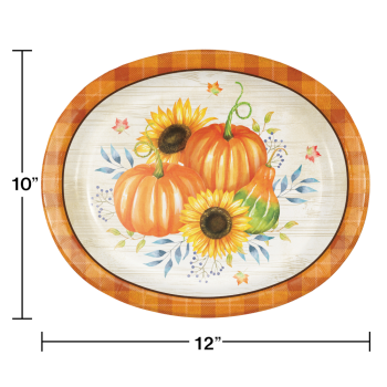 Picture of TABLEWARE - HARVEST TRUCK OVAL PLATES