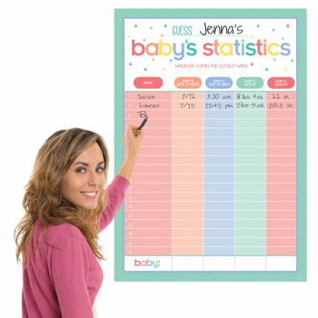 Picture of DECOR - BABY SHOWER STATISTICS CHART