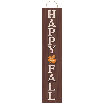 Picture of DECOR - HAPPY FALL WOOD HANGING PLANK