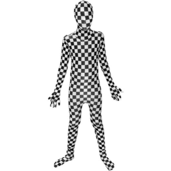 Picture of MORPHSUITS KID - LARGE - BLACK/WHITE CHECK