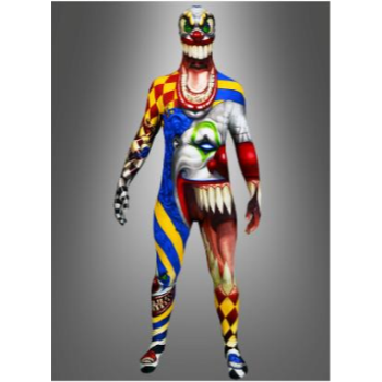 Picture of MORPHSUIT ADULT - MEDIUM - SCARY CLOWN