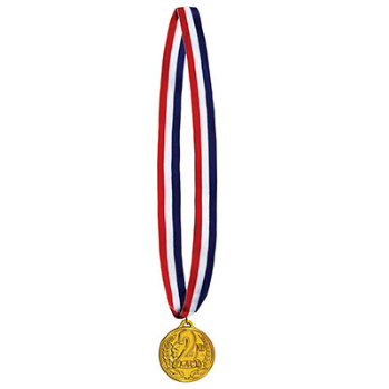 Picture of WINNER MEDAL ON RIBBON - 2ND PLACE