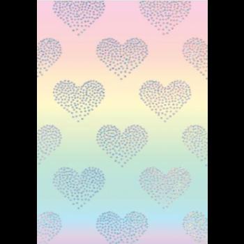Image de HEARTS OMBRE HOLOGRAPHIC JUMBO GIFT WRAP 50'