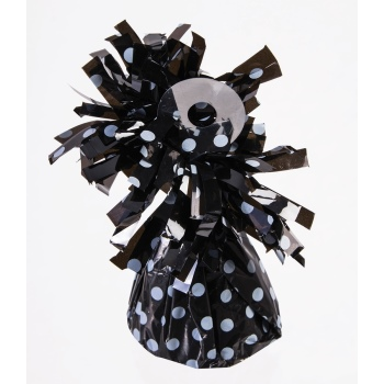 Picture of SMALL BALLOON WEIGHT - WHITE POLKA DOT ON BLACK