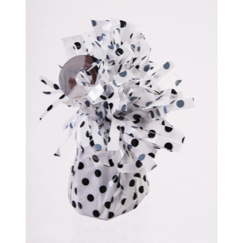Picture of SMALL BALLOON WEIGHT - BLACK POLKA DOT ON WHITE