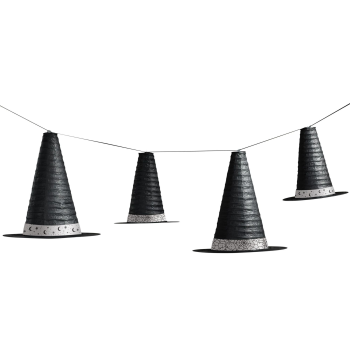 Picture of WITCH HAT HANGING LANTERN