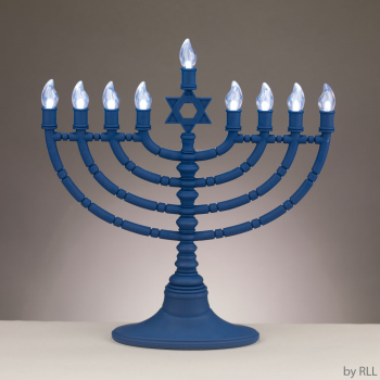 """Picture of DECOR - MENORAH BATTERY OPERATED - 12"""""""
