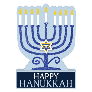 Picture of DECOR - MENORAH STANDING SIGN