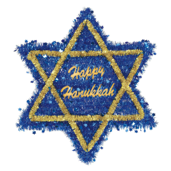 Picture of DECOR - HANUKKAH TINSEL STAR OF DAVID