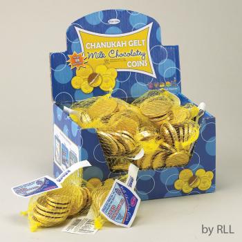 Picture of DECOR - CHANUKAH GELT MILK CHOCOLAT COINS